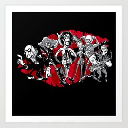 RHPS - gang of six toon party Art Print