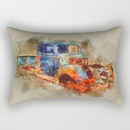 Abandoned Ford Truck Rectangular Pillow