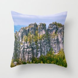 Schrammsteine Throw Pillow