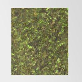 Abalone Shell | Paua Shell | Yellow Tint Throw Blanket