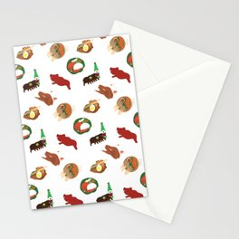 Balinese Food Pattern Stationery Cards