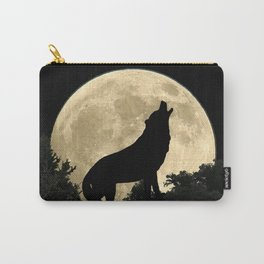 Wolf Howling at the Full Moon A303 Carry-All Pouch