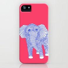 ornate Ellie in blue iPhone (5, 5s) Slim Case