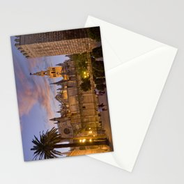 Seville, The Cathedral at dusk Stationery Cards