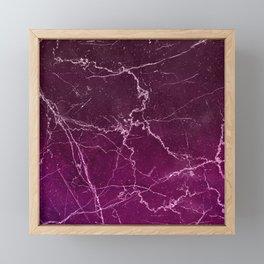 Abstract burgundy white gradient marble Framed Mini Art Print