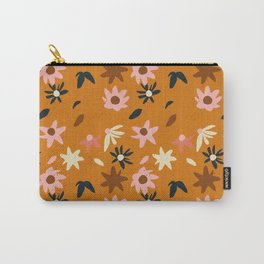 Fall flowers pattern Carry-All Pouch