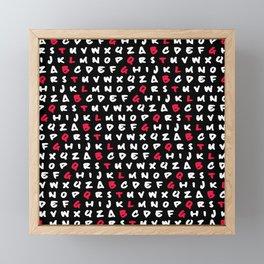 Abc's Framed Mini Art Print