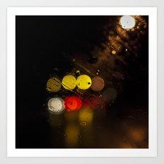 Spider Eyes in Rain Art Print