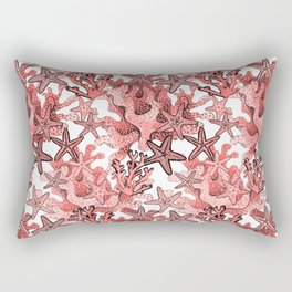Living Coral and starfish, Coral reef Rectangular Pillow