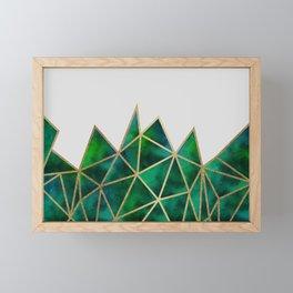 Emerald & Gold Geometric Framed Mini Art Print