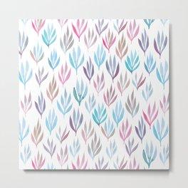 Watercolour Ferns | Pastel Mix Metal Print