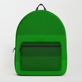 Irish Kelly Green Ombre Stripes Backpack