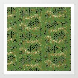 Textured Trees Art Print