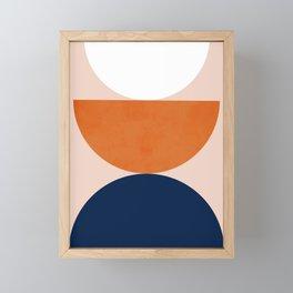 Abstraction_Balance_Minimalism_001 Framed Mini Art Print