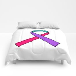 Thyroid Cancer Awareness Ribbon Comforters