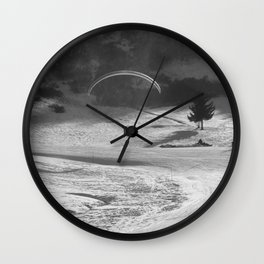 Paragliding in the mountains, Les Arcs Wall Clock