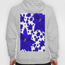 Poinsettia Blue Indigo Pattern Hoody