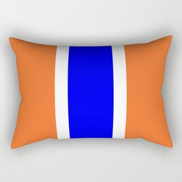 TEAM COLORS 10....ORANGE AND BLUE Rectangular Pillow