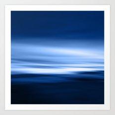 Blue silence Art Print