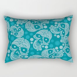 Sugarskull Mandala Pattern Rectangular Pillow