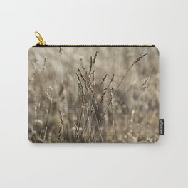 Wild meadow grass in winter Carry-All Pouch