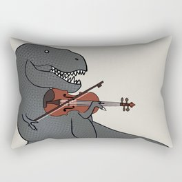 T-Rex Violin Rectangular Pillow