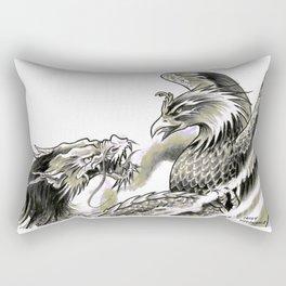 Dragon Phoenix Tattoo Art Print Rectangular Pillow