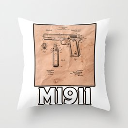 M1911 Patent Drawings Throw Pillow