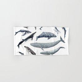 Whales all around Hand & Bath Towel