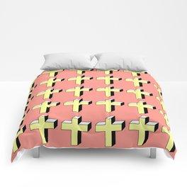 Christian Cross 5- facetté Comforters