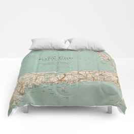 Vintage Map of Cape Cod (1917) Comforters