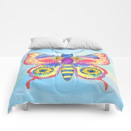 Butterfly V on a Summer Day Comforters