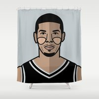 danny haas Shower Curtains featuring Danny Green by Will Wild