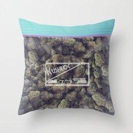 Kushloc Bag of Weed Throw Pillow
