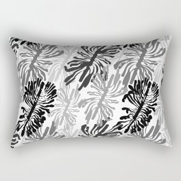 Bark beetle galleries seamless pattern Rectangular Pillow