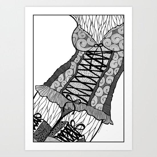 La femme n.5 Art Print