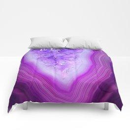 Magically Purple Agate Druzy Comforters