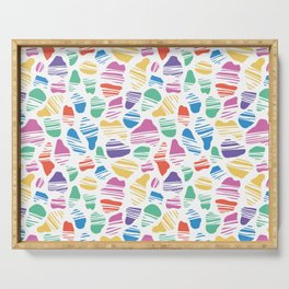 Okapi Spotted Pattern ~ Rainbow Palette Serving Tray