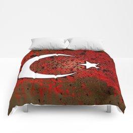 circuit board turkey (flag) Comforters