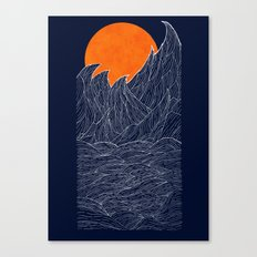 The White Waves Canvas Print