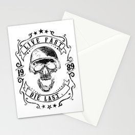 Live Fast Die Last Stationery Cards