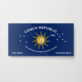 Conch Republic Flag Metal Print
