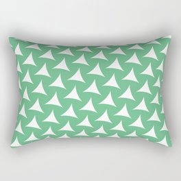 Tristar Green Rectangular Pillow