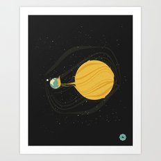 Death by Solar Flare Art Print