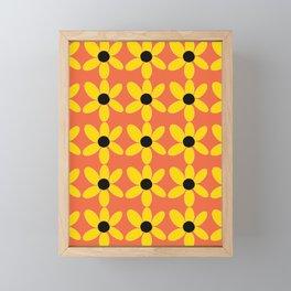Black Eyed Susan On Coral Framed Mini Art Print
