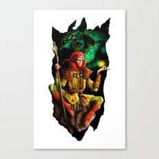 A wizard in the dark Canvas Print