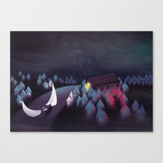 Gravity (Moon in the River) Canvas Print