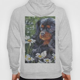 Black and Tan Cavalier King Charles Spaniel painting by L.A.Shepard Hoody