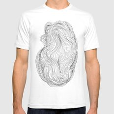 Waves Mens Fitted Tee White MEDIUM