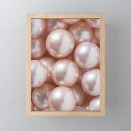 Blush Pink Pearls Framed Mini Art Print